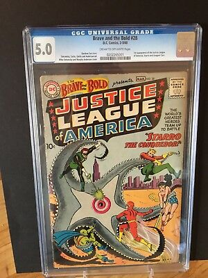 Brave and the Bold #28 CGC 5.0 First App. of the JLA Key Issue