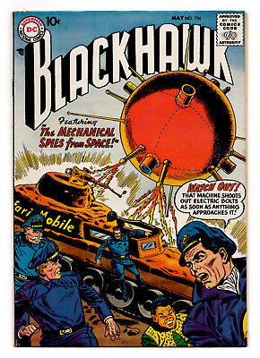 Blackhawk #124 1958 / The Mechanical Spies from Space! / Dick Dillin VG+ 4.5