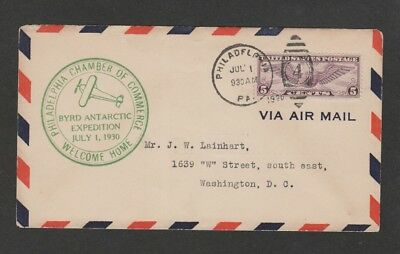 US 1930 Byrd Antarctic expedition welcome home
