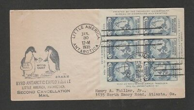 US 1935 Little America Antarctica Byrd expedition with souvenir sheet