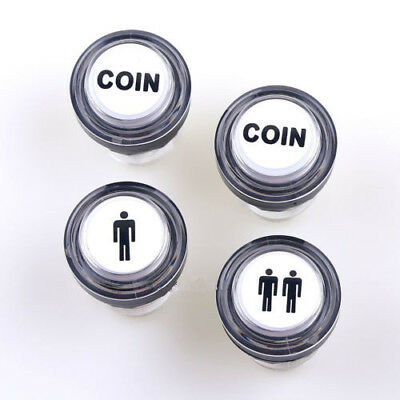 4 x LED Arcade Start Player Button Bundles 1P & 2P & LED Coin Button Boxing Game