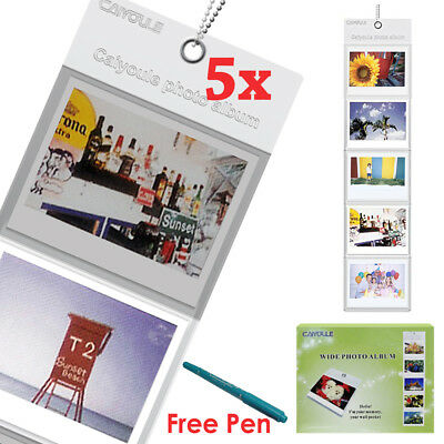 For Fujifilm Instax Wide 210 300 Camera Film 5PCS Wall Album Hanging Dislay +Pen