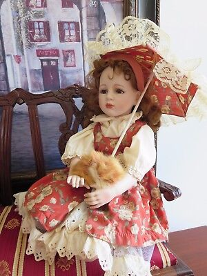 Handmade collectors doll by Artisan Gloria Livy