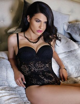 New Sexy Black Eye Candy Push up Lace Teddy Costume Nightwear Lingerie 12-14