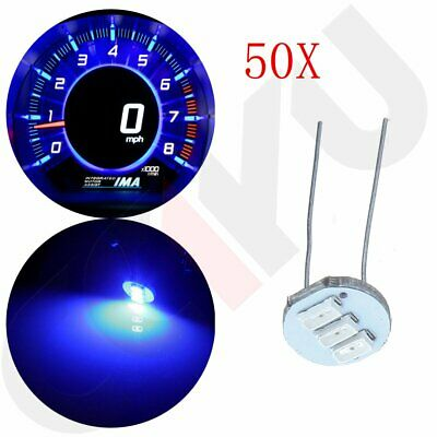 50X Instrument Cluster Gauge Ultra Blue 3 SMD LED Bulbs For GM Bulbs Replacement