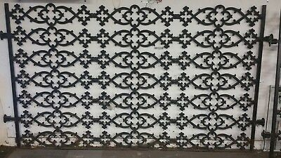 """Wrought Iron Room Dividers - Two Handcrafted 53"""" x 94"""" Sections - High Quality"""