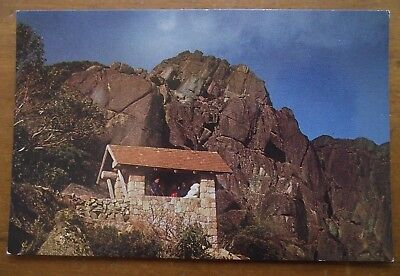 Vintage Postcard: Back Wall, The Horn, Mt. Buffalo, VIC