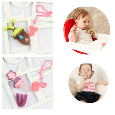 Baby Food Feeder Silicone Teether Nibbler with Fresh Fruits Vegetable for Baby