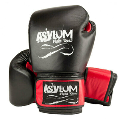 Asylum Boxing Gloves 16OZ MMA/Fitness/Fighter Equipment/Fight/Training Gear Red
