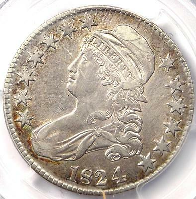 1824/4 Capped Bust Half Dollar 50C O-110 - PCGS XF Details (EF) - Rare Coin