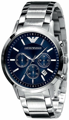 NEW Emporio Armani AR2448 Stainless Steel Chronograph Date Display Men's Watches