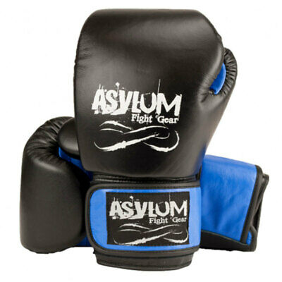 Asylum Boxing Gloves 14OZ MMA/Fitness/Fighter Equipment/Fight/Training Gear Blue