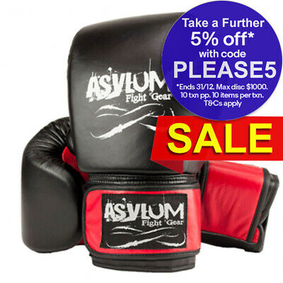 Asylum Boxing Gloves 14OZ MMA/Fitness/Fighter Equipment/Fight/Training Gear Red