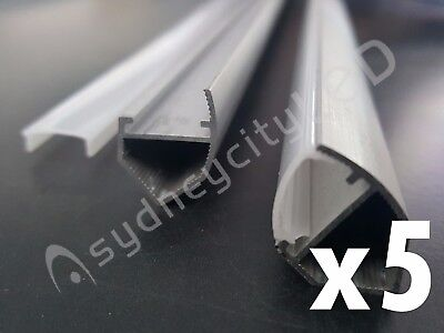 5X1M Corner 45° Aluminium Channel Profile for LED Strip Light 5050 3528 Op cover