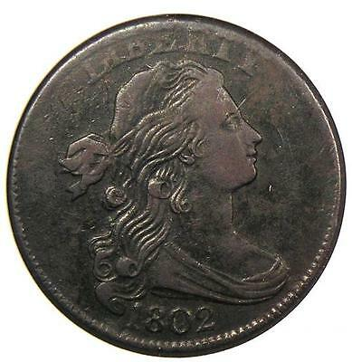 1802 Draped Bust Large Cent 1C S-230 - ANACS XF Details / Net VF30 - Rare Coin