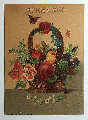 Large Victorian Trade Card - Day's Soap, The Phildelphia Steam Soap Works