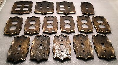 Lot of 15 Vtg.Solid Brass Amerock Carriage House Outlet&Light Switch Cover Plate