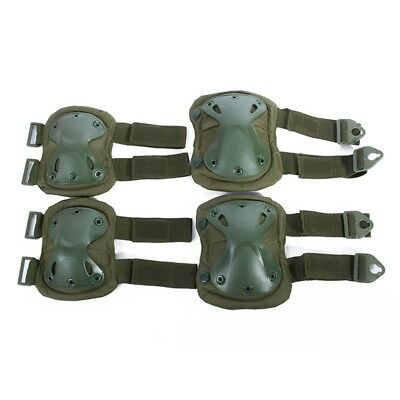 Newest Elbow Knee Pad Set Outdoor Tactical Paintball Game Skating Body Protector