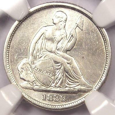 1838-O Seated Liberty Dime 10C - NGC XF Details (EF) - Rare Certified Coin!
