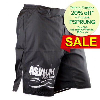Asylum Black Shorts Size 34 Boxing/MMA/Fitness/Fighter Equipment/Fight Gear
