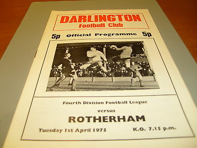 Darlington v Rotherham 74/75