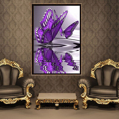 5D DIY Diamond Painting Butterfly Cross Stitch Embroidery Home Decor Craft UK