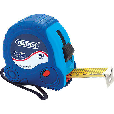 Draper Soft Grip Tape Measure Imperial & Metric 33ft / 10m 32mm