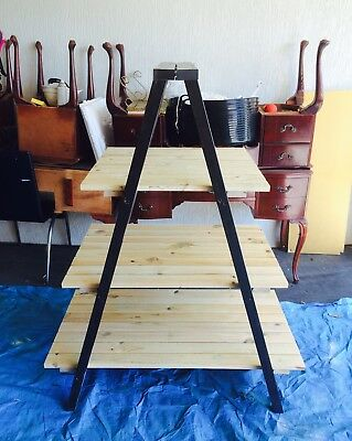 Rustic Timber a frame ladder Stand Drink Station Events Prop