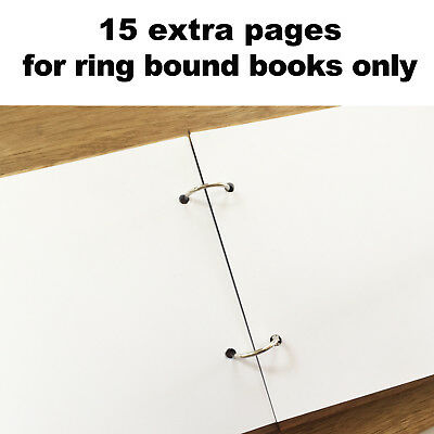 15 Extra Pages for our Ring Bound Books Only
