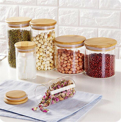 Food Glass Kitchen Storage Bottles Sealed with Lid Large Capacity Glass Jars
