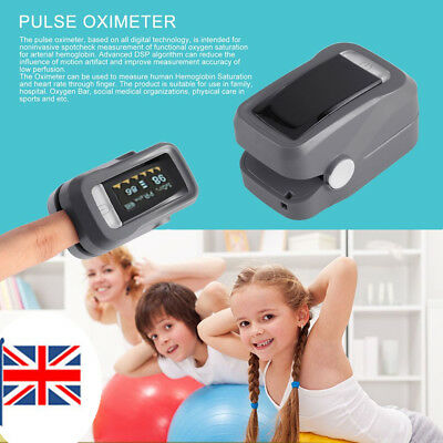Fingertip Blood Oxygen Meter SPO2 OLED Pulse Heart Rate Monitor Oximeter rate JM
