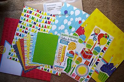 Creative Memories 12x12 Cakes & Candles Additions Kit Cake Balloons Party Gift