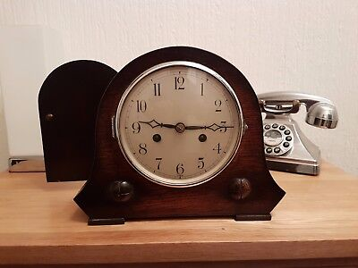 vintage Oak striking mantle clock
