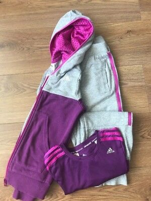 Adidas Girls Tracksuit with Sport Top Age 9-10 Yrs