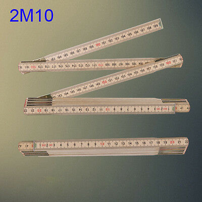 Portable 2m Folding Pocket Rule Ruler Meter Wood Metric Measuring Hand Tape Tool
