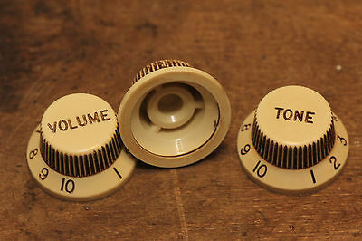 "ST Knobs aged ""True to Vintage""  fits Fender® Color matched from org. 60's Parts"
