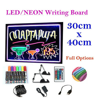 40x30cm LED/Neon/Fluorescent Writing Menu Board, Advertising/Light Shining Sign