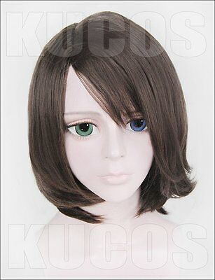 Cosplay wig Final Fantasy Ⅹ YUNA/ Woman Anime Brown short fringe hair wigs