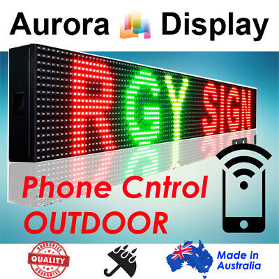 105x20cm RGY Phone/Wifi Control Scrolling Programmable LED Message Sign Outdoor