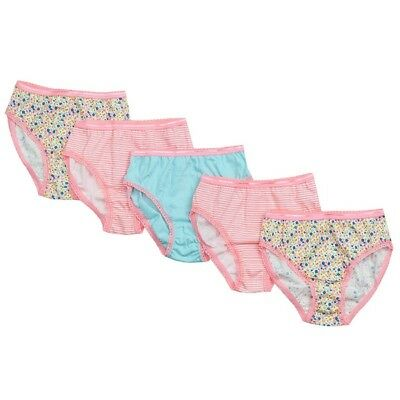 Girls Knickers Briefs Underwear Neon Floral 5 Pack Pants 2-8 Years e9318fb12