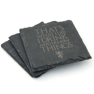 Game of Thrones  Gift  Coasters  Natural Slate  Engraved Novelty Present