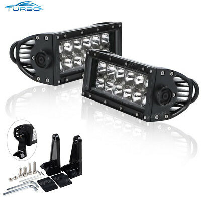 2x 7INCH 36W SPOT CREE LED WORK LIGHT BAR OFFROAD ATV FOG TRUCK 4WD 12V VS FLOOD