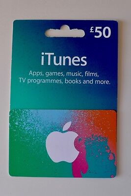 iTunes Gift Card £50 GBP UK - unwanted present