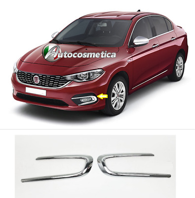 FIAT TIPO 2015+ MODANATURE FENDINEBBIA ANTERIORI CROMATURE ADESIVE in abs