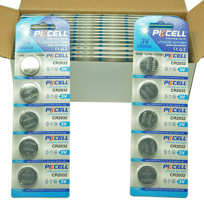 100x CR2032 DL2032 CR 2032 3V Button Coin Cell Lithium Batteries PKCELL