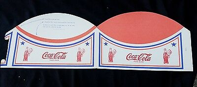 Vintage Advertising Premium Soda Fountain Jerk COCA COLA Hat Sprite Boy Unused