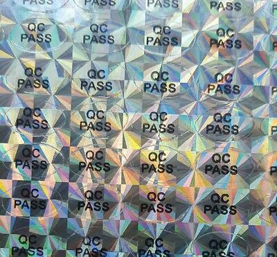 QC passed hologram stickers Oval hologram Labels