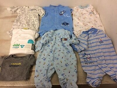 Baby Boy's Preemie Clothes Sleepers Outfits Carter's Brand Reborn Doll Also