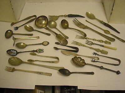 Lot Of Old Silver Plate Cutlery Flatware
