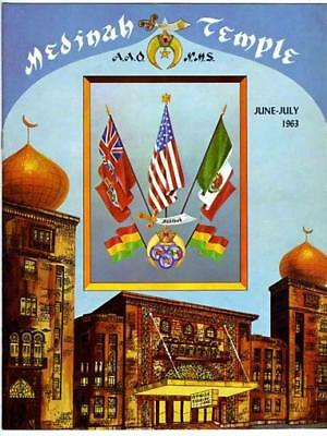 Medinah Temple Magazine June 1963 Oasis of Chicago Desert of Illinois Shrine